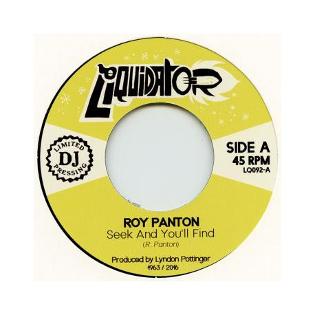 "ROY PANTON ""Seek And You'll Find"" SG 7"""