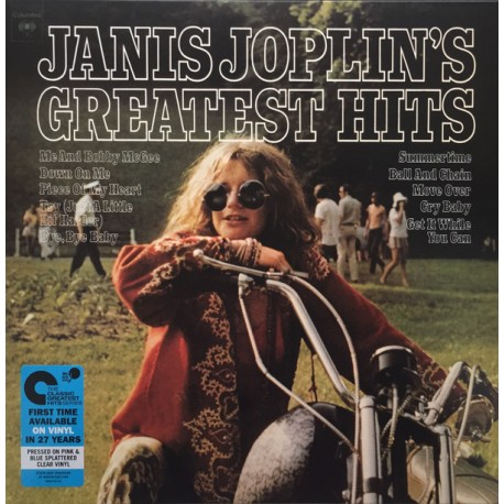 "JANIS JOPLIN ""Greatest Hits"" LP Color"