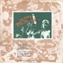 "LOU REED ""Berlin"" LP."