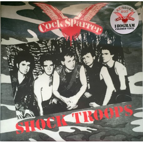 "COCK SPARRER ""Shock Troops"" LP 180GR Color."