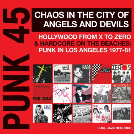"""VV.AA. """"Punk 45: Chaos In The City Of Angels And Devils"""" 2LPs."""