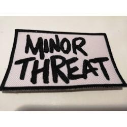 "PARCHE MINOR THREAT ""Logo"" Blanco."