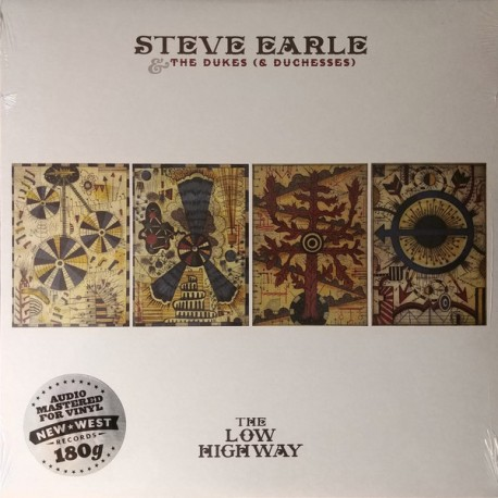 """STEVE EARLE & THE DUCKES (& DUCHESSES) """"The Low Highway"""" LP."""
