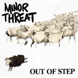 "MINOR THREAT ""Out Of Step"" LP (Dibujo marrón)."