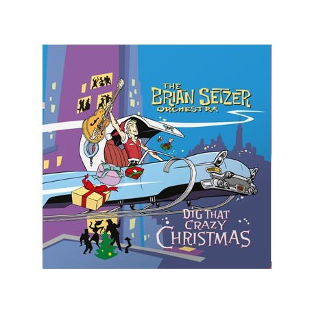 "BRIAN SETZER ORCHESTRA ""Dig That Crazy Christmas"" LP Color."
