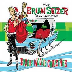 "BRIAN SETZER ORCHESTRA ""Boogie Woogie Christmas"" LP Color."