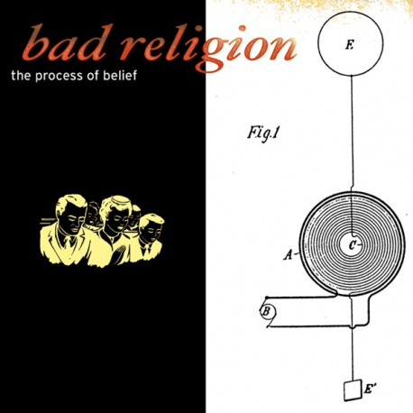 """BAD RELIGION """"The Process Of Belief"""" LP Color Clear."""