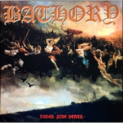 "BATHORY ""Blood Fire Death"" LP."