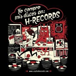 """CAMISETA H-RECORDS """"Yo Compro Discos"""" 2020."""