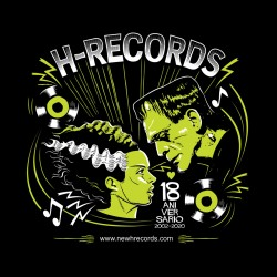 "CAMISETA H-RECORDS ""18 Aniversario"" 2020."