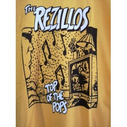 "CAMISETA THE REZILLOS ""Top Of The Pops"" Amarilla."