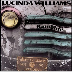 "LUCINDA WILLIAMS ""Ramblin'"" CD."