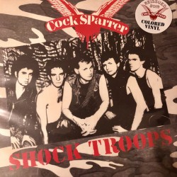 "COCK SPARRER ""Shock Troops"" LP 180GR Color Red & Black."