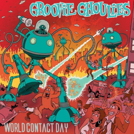 """GROOVIE GHOULIES """"World Contact Day"""" LP Color."""