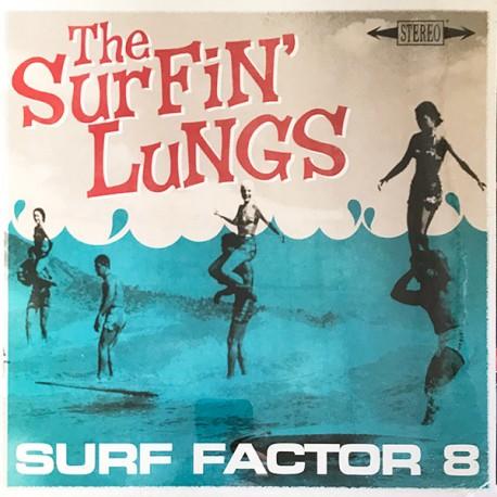 """SURFIN' LUNGS """"Surf Factor 8"""" LP."""
