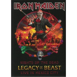 "IRON MAIDEN ""Nights Of The Dead - Live In Mexico City"" 2CD Deluxe."