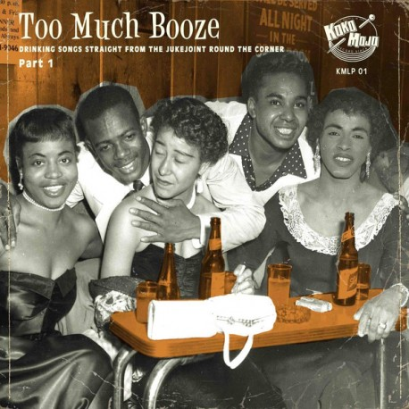 """VV.AA. """"To Much Booze"""" LP."""