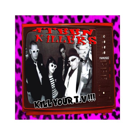 "4 TEEN KILLERS ""Kill Your TV!!"" LP Color H-Records"