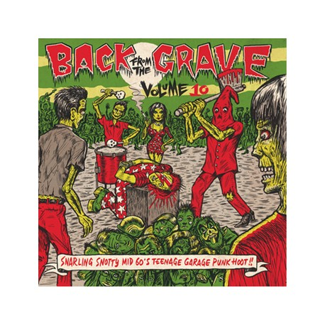 """VV.AA. """"Back From The Grave Vol. 10"""" LP Crypt"""