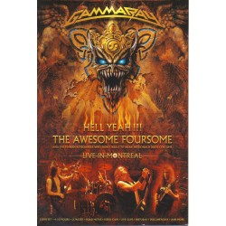 """GAMMA RAY """"Hell Yeah!!! The Awesome Foursome"""" 2DVD."""