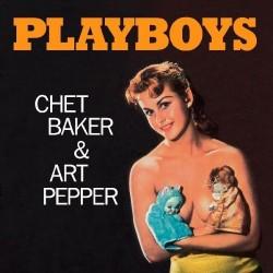 """CHET BAKER & ART PEPPER """"Playboys"""" LP Color."""