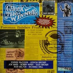 """GLEN BROWN """"Check The Winner"""" LP."""