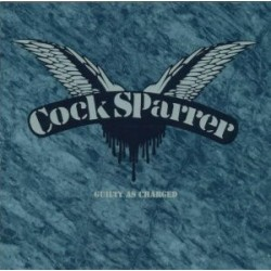 """COCK SPARRER """"Guilty As Charged"""" LP Tri-Color."""