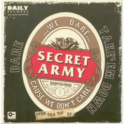"""SECRET ARMY / CRASHED OUT """"Over The Top"""" SG 7"""" Split"""