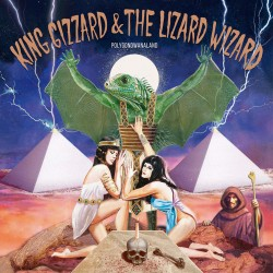 "KING GIZZARD AND THE LIZARD WIZARD ""Polygondwanaland"" LP Color Clear & Red."