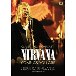 """NIRVANA """"Come As You Are - Classic 1992 Broadcast"""" DVD"""