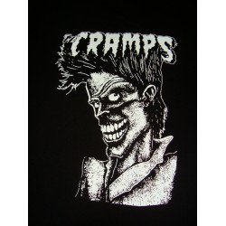 "CAMISETA THE CRAMPS Negra Logo ""Bad Music For Bad People"""